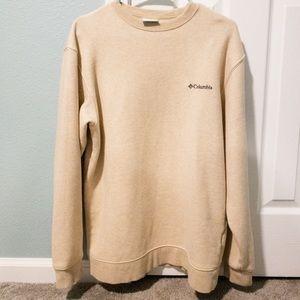 Cream Men's Columbia pullover sweatshirt  Med EUC